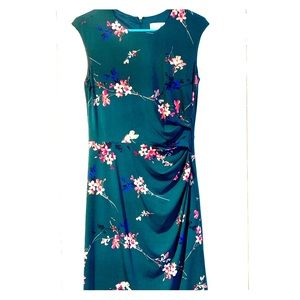 Eliza J Cap Sleeve Floral Print Sheath Dress